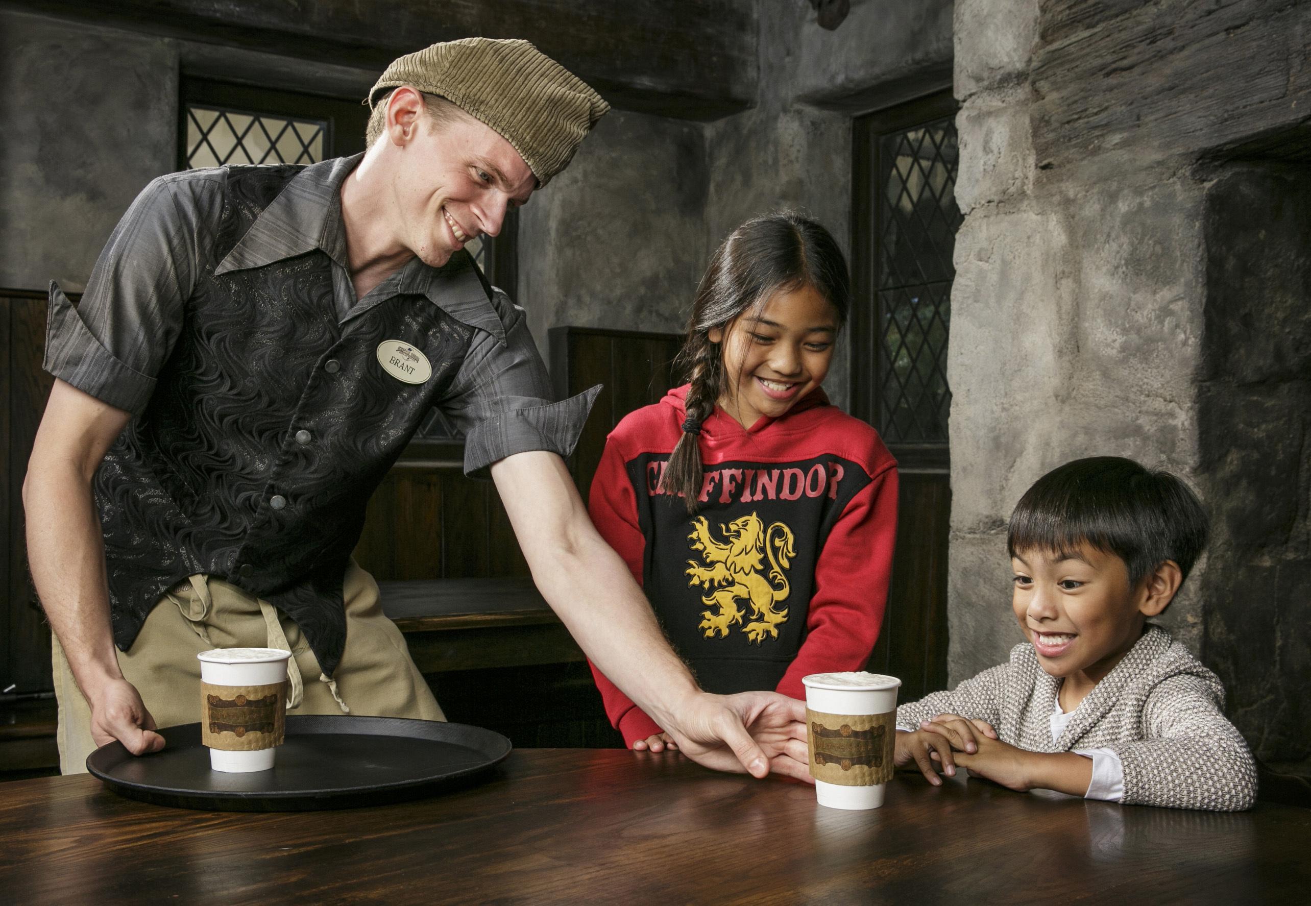Hot Butterbeer at Universal Studios' Wizarding World of Harry Potter