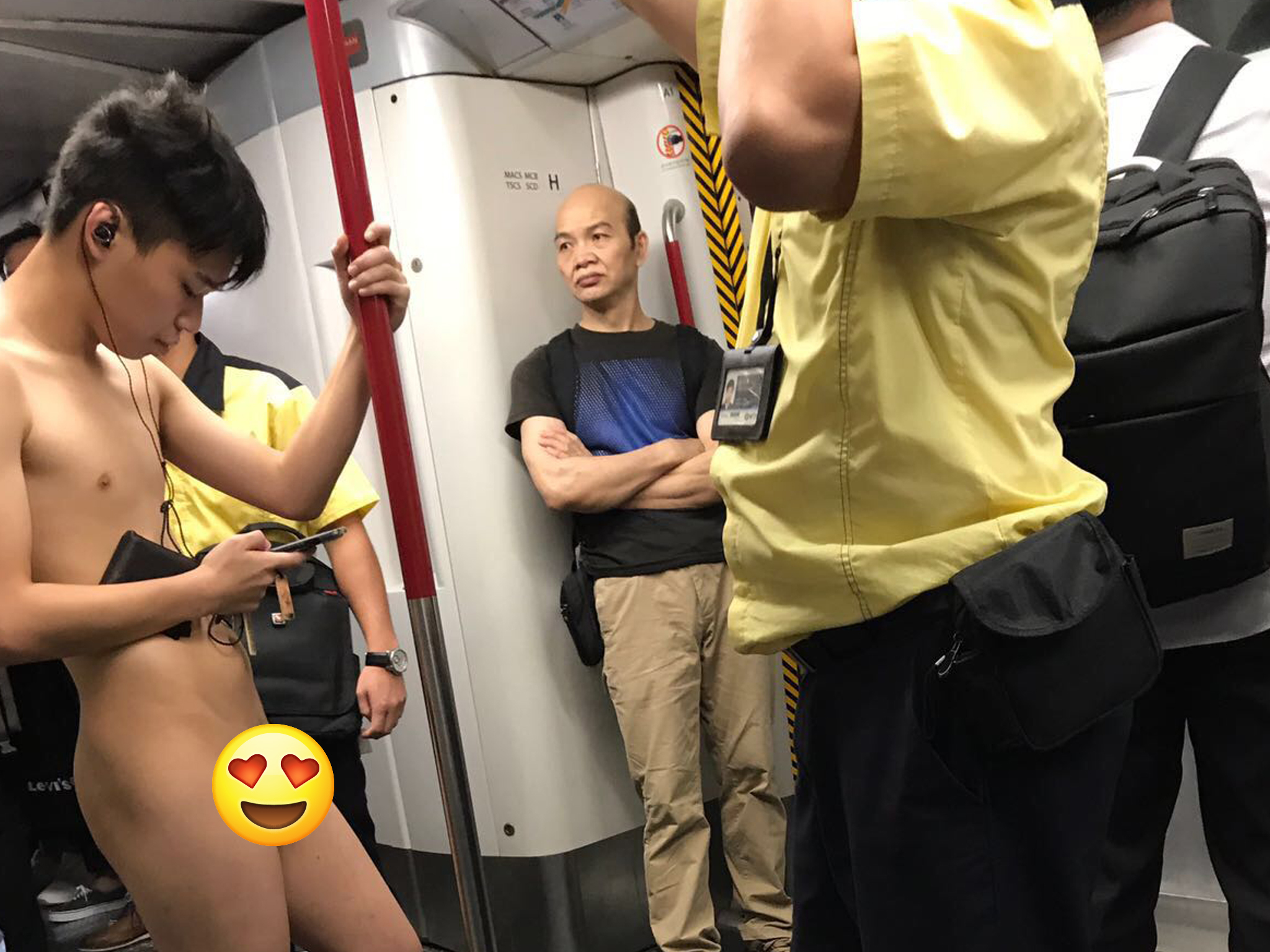 Hong Kong MTR naked man