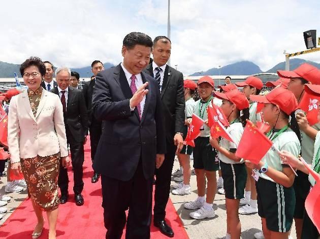 President Xi Jinping in Hong Kong