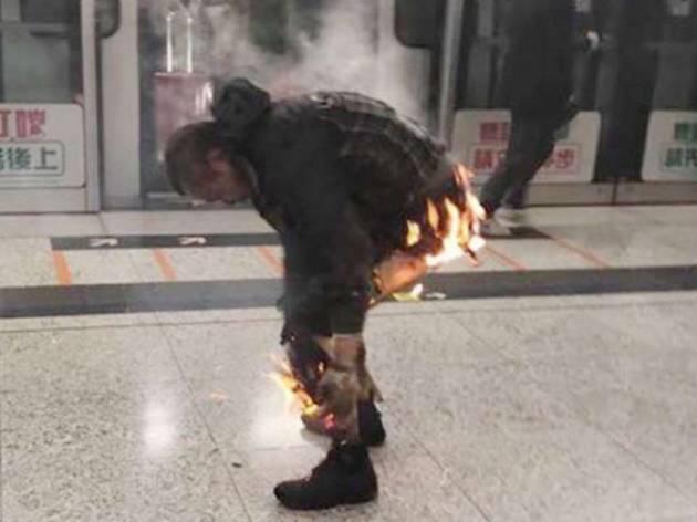 Fire bomb in MTR