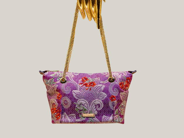 Mini Grajaat embroidered silk hand bag, Jim Thompson, Gift Guide