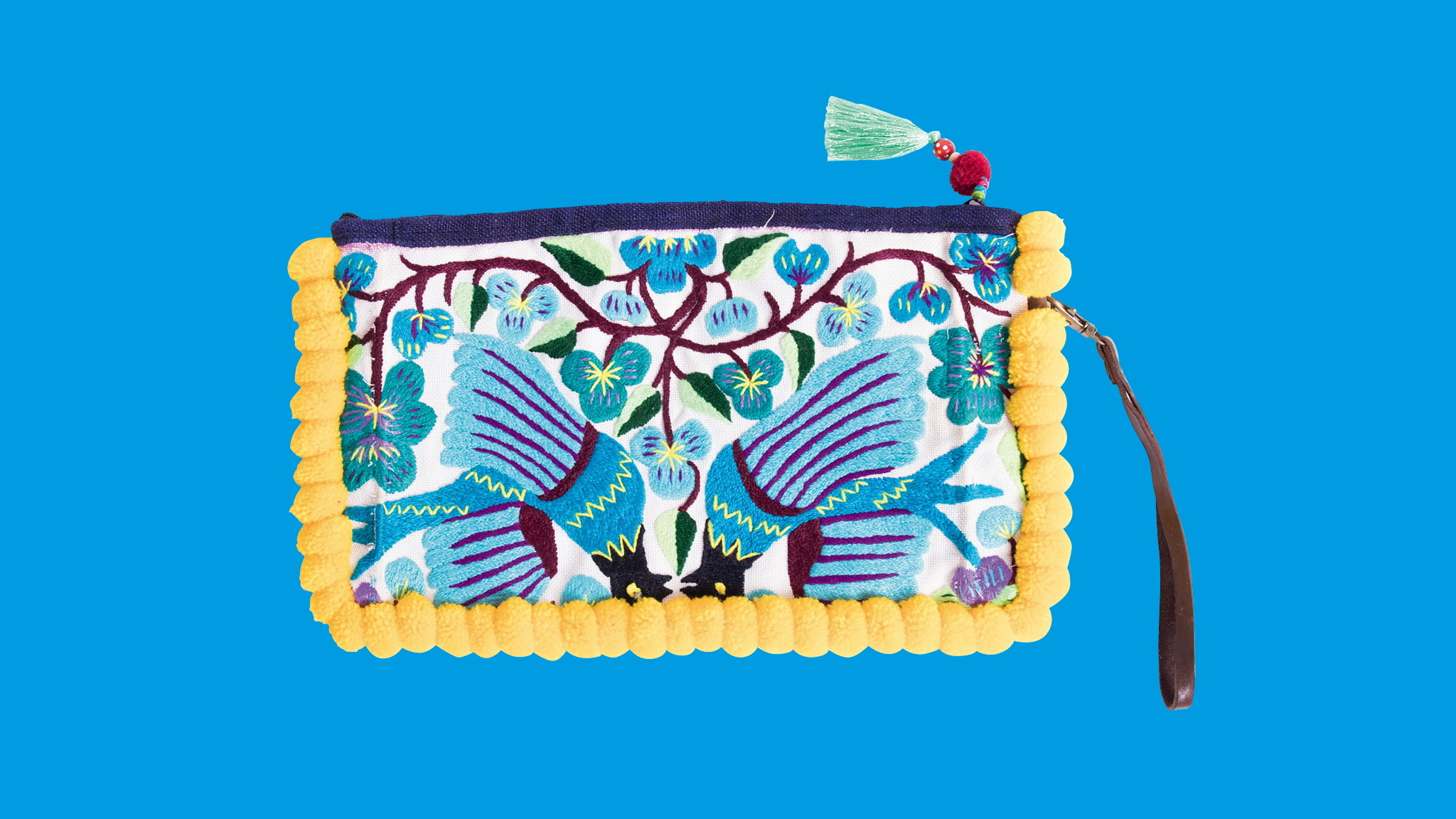 Embroidered purse, Ecotopia, gift guide