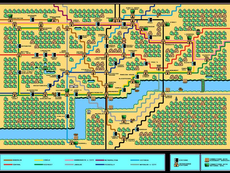 The Super Mario map