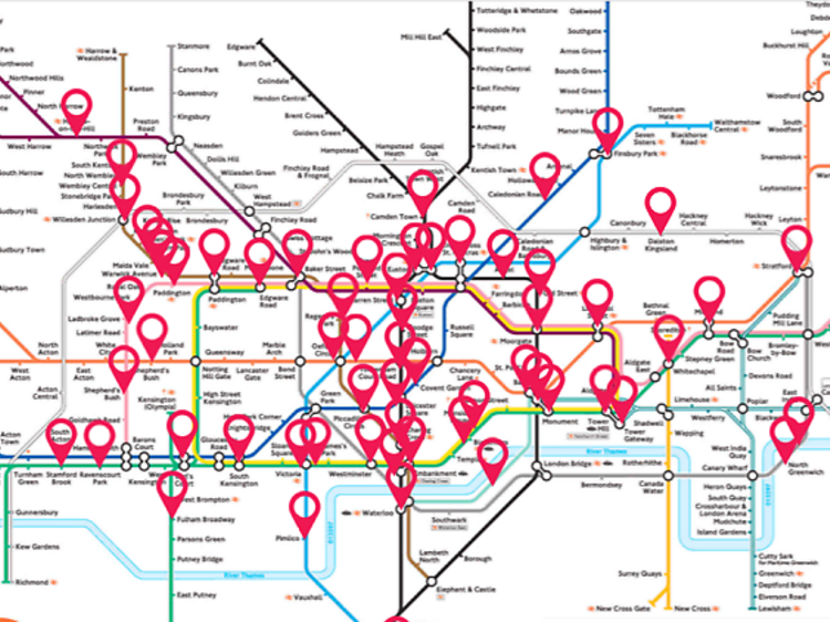The audio tube map