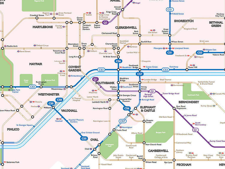 The cycle route tube map