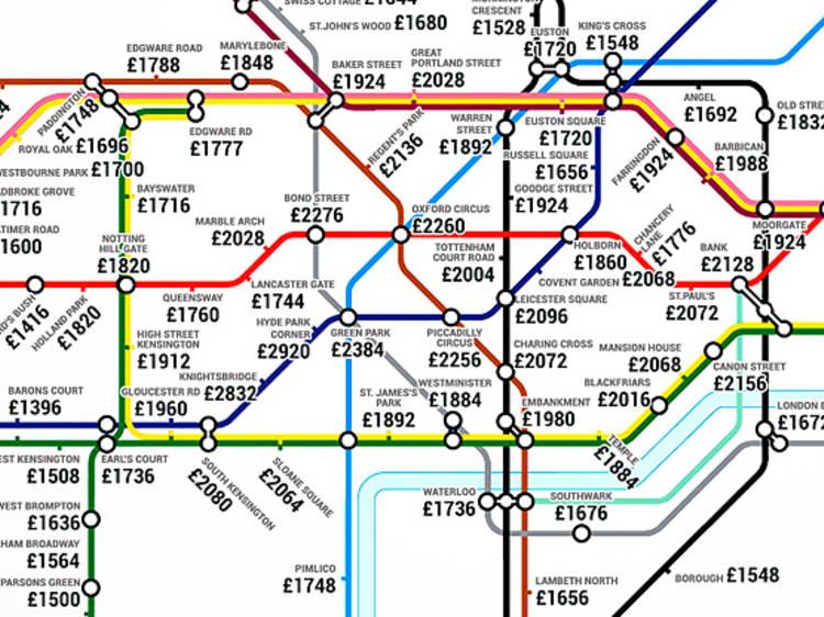 The average rent tube map