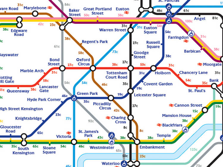 The calorie-burning tube map