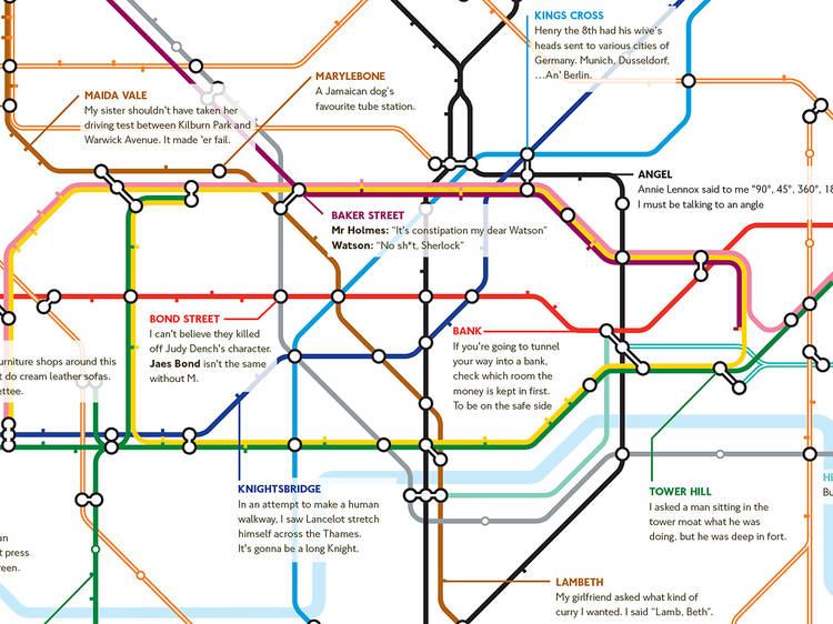 The pun tube map
