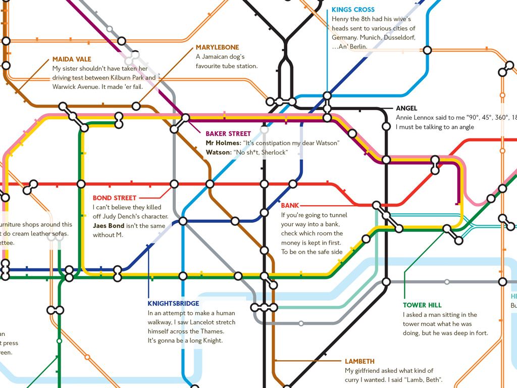 Map Of England Joke.24 Awesome Alternative London Tube Maps