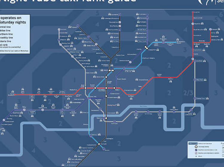 The taxi rank tube map