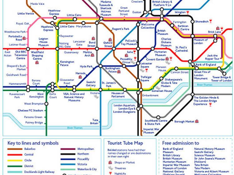 The tourist tube map