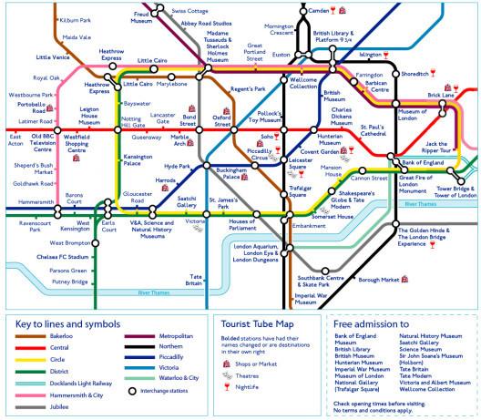 London Tourist Sites Map.24 Awesome Alternative London Tube Maps