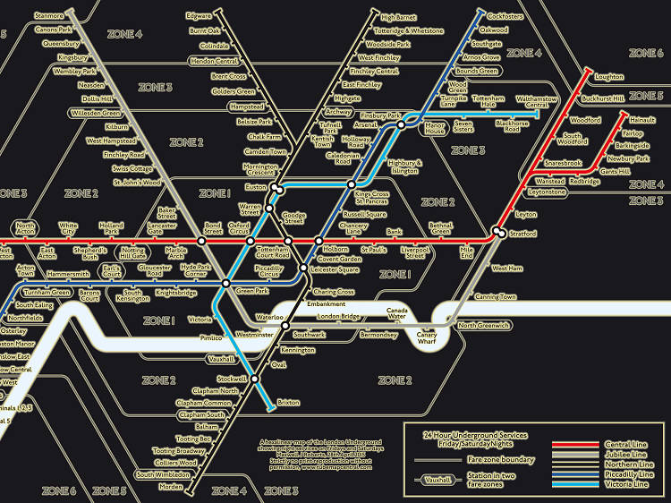 The alternative night tube map