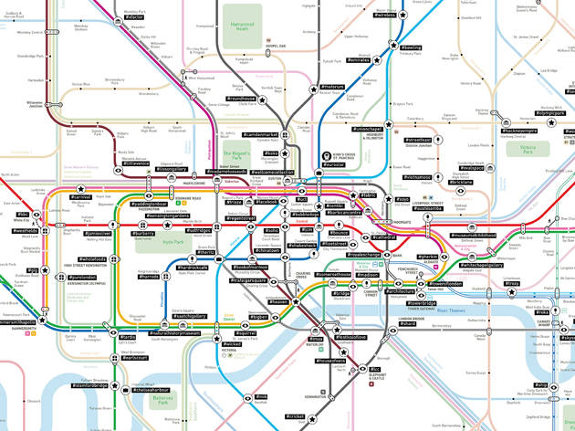 the hashtag tube map