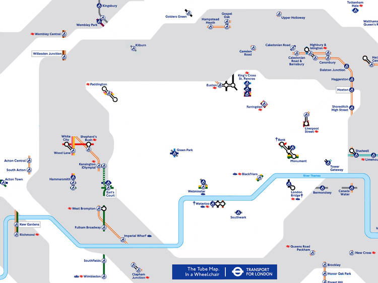 The accessibility tube map