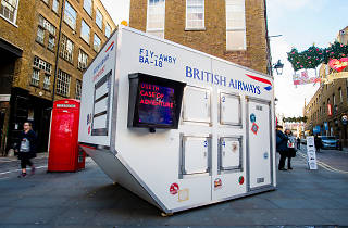BA, British Airways, container, Covent Garden, London, Time Out