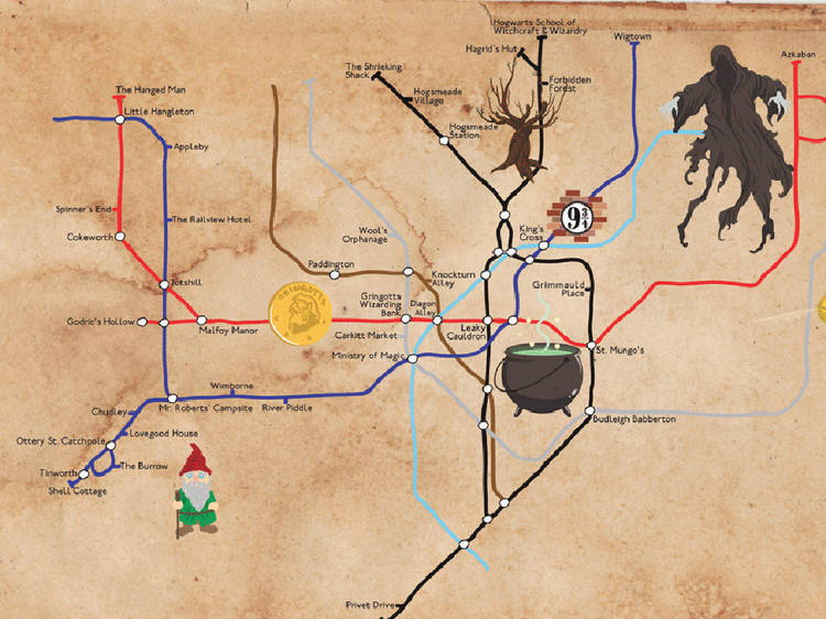 The Harry Potter tube map