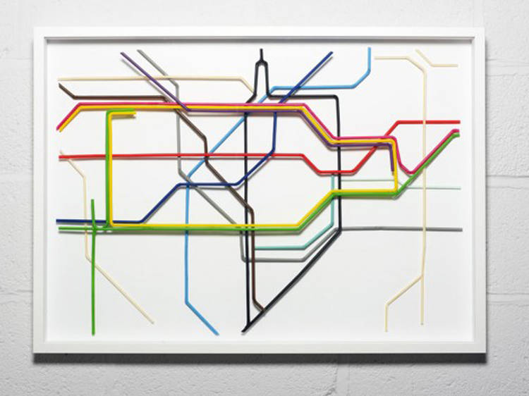 The map made out of straws