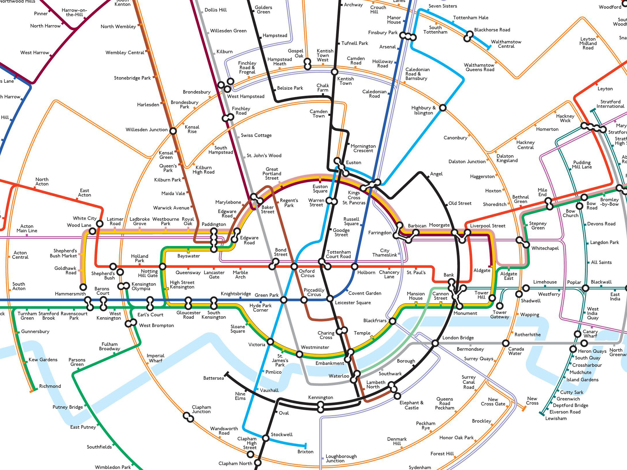 24 awesome alternative london tube maps the map inspired by the roundel gumiabroncs Gallery