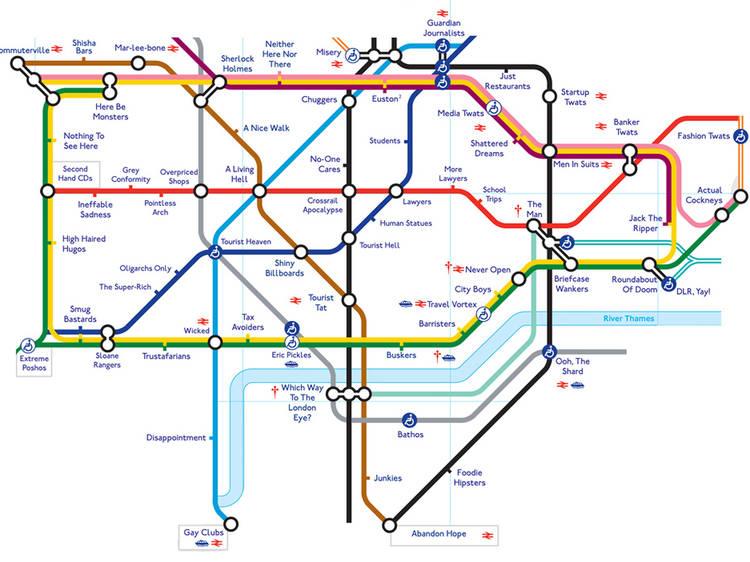 The honest tube map