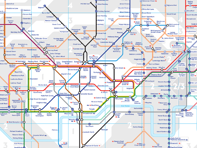 Map To London.24 Awesome Alternative London Tube Maps