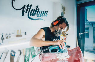 Chris Tilbe of Makara at work