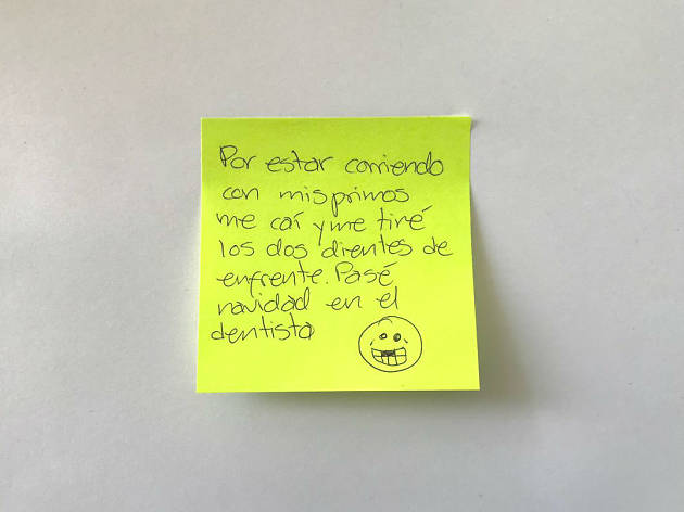 Confesiones de post-its fiestas navideñas