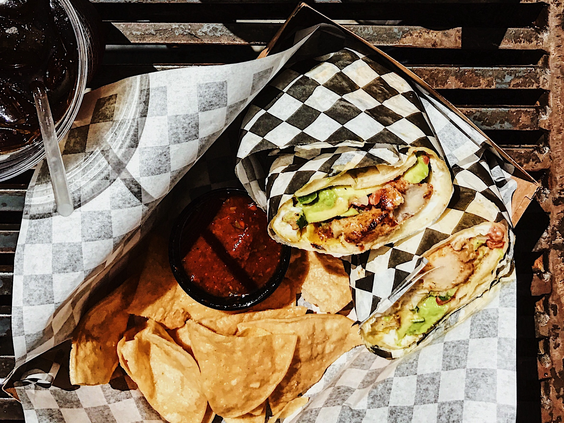 Brisket Burrito at Coffee Commissary