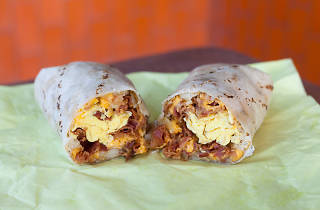 Breakfast burrito at Lucky Boy