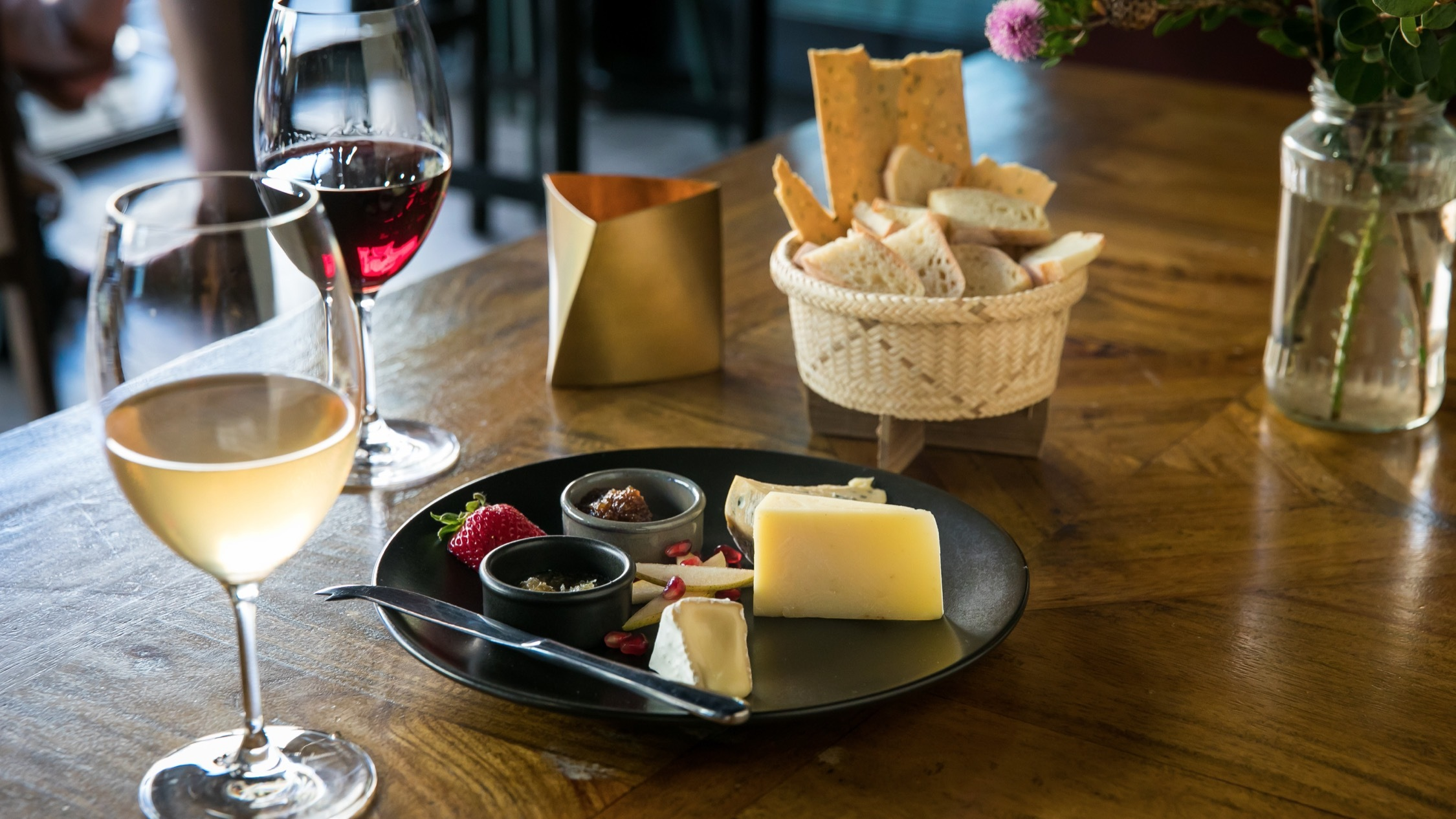 Glasses of wine and cheese at Where's Nick Marrickville