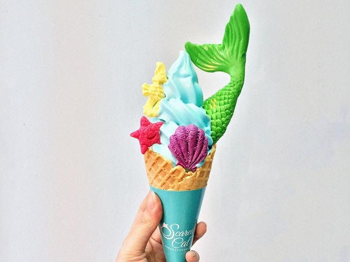 Order an Instagrammable ice cream at Scaredy Cat