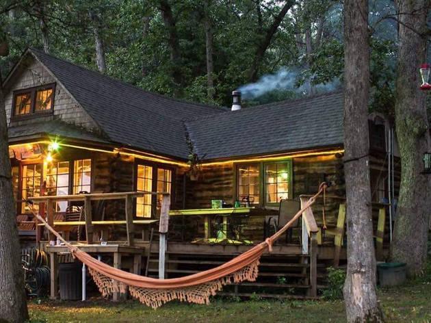 Historic Cabin on the Rock River in Oregon, IL