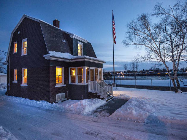 Historic House on the Fox River in Little Chute, WI