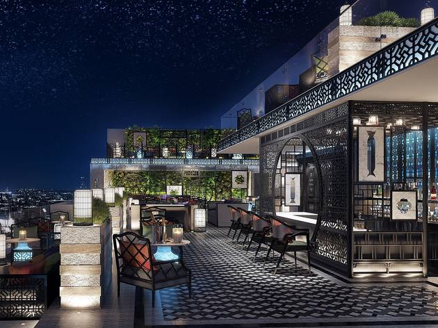 Rooftop Bar ของโรงแรม Bangkok Marriott The Surawongse