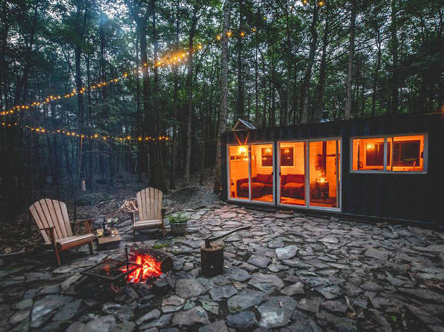 Container Cabin in the Catskills in Saugerties, NY