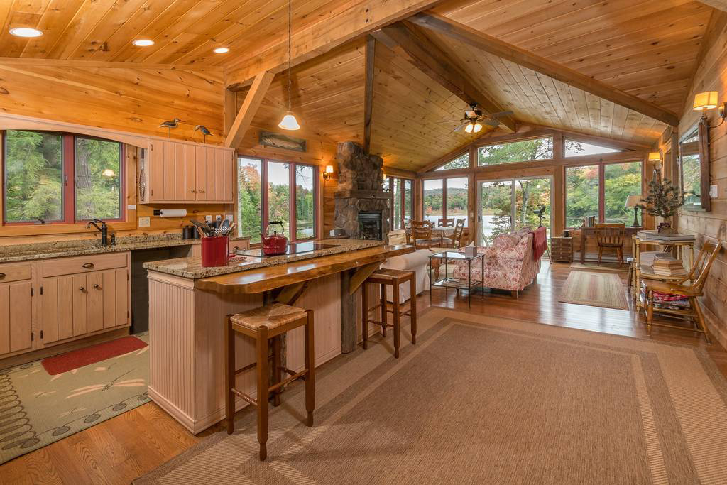 Lakefront Cabin With Privacy, Views, Snowshoes in Piseco, NY