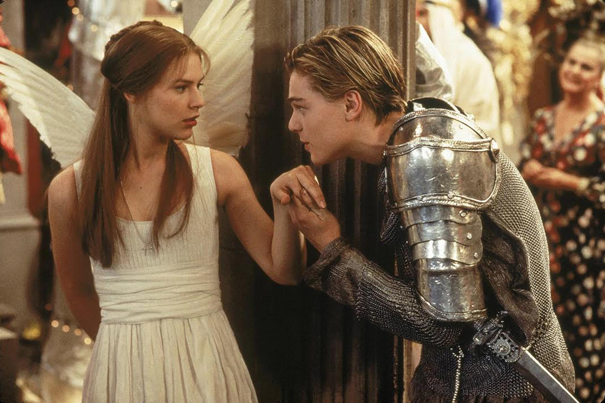 Claire Danes and Leonardo DiCaprio in ROMEO AND JULIET (1996)