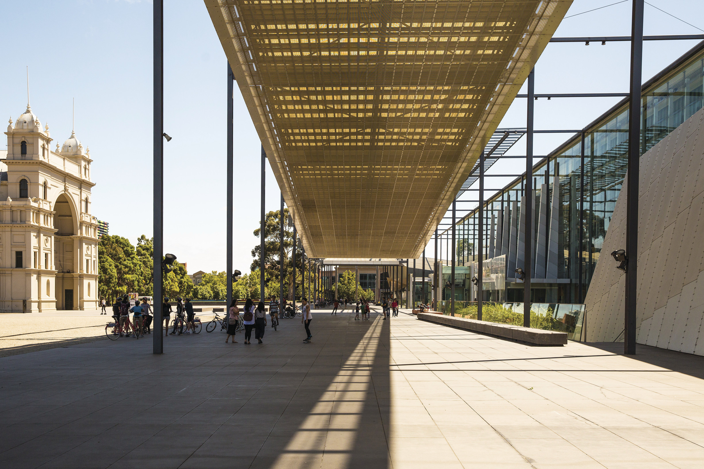 Exterior of the Melbourne Museum and Royal Exhibition Building.