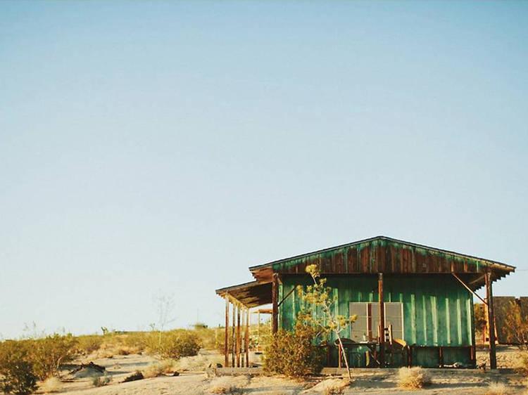 A rustic cabin in Joshua Tree