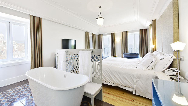Os melhores hotéis com jacuzzi no quarto em Lisboa