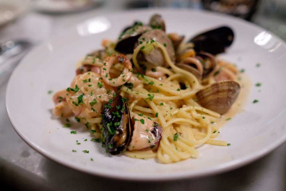 Seafood pasta at Sotto Mare