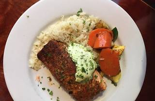 Salmon dish at Alamo Square Seafood Grill