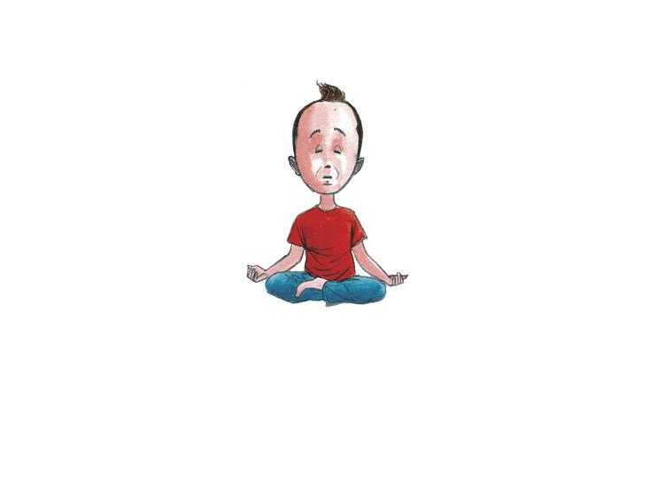 Ser um pequeno yogui na Escola Sunshine Yoga