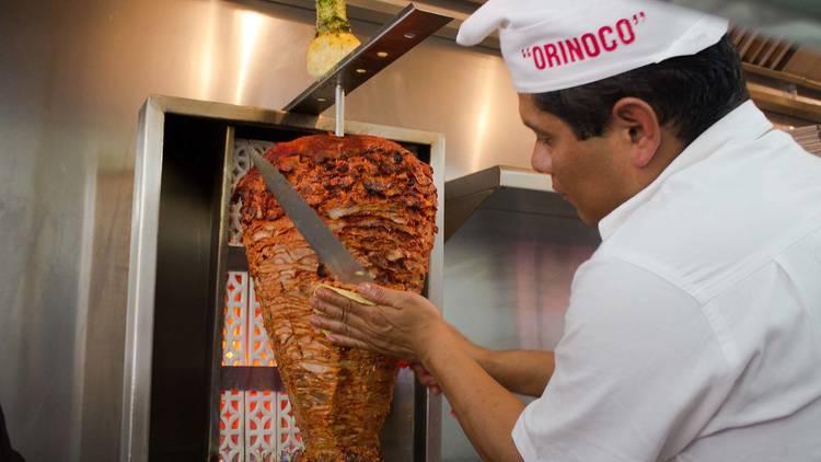 taco al pastor Tacos Orinoco