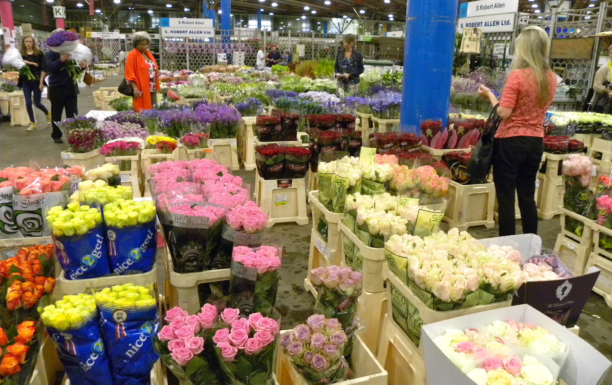 New Covent Garden Market flower market