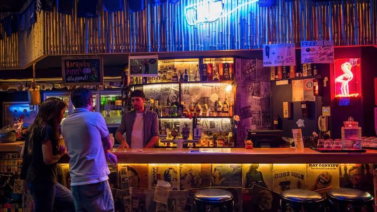 People at bar at Goros Bar Surry Hills