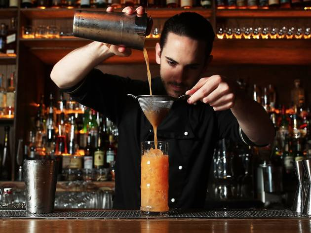 Making cocktails at Beneath Driver Lane