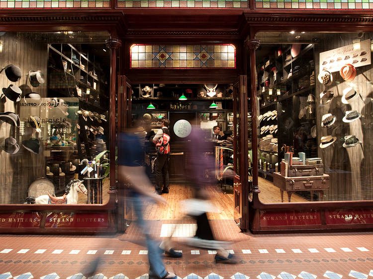 Browse Australian boutiques at Strand Arcade