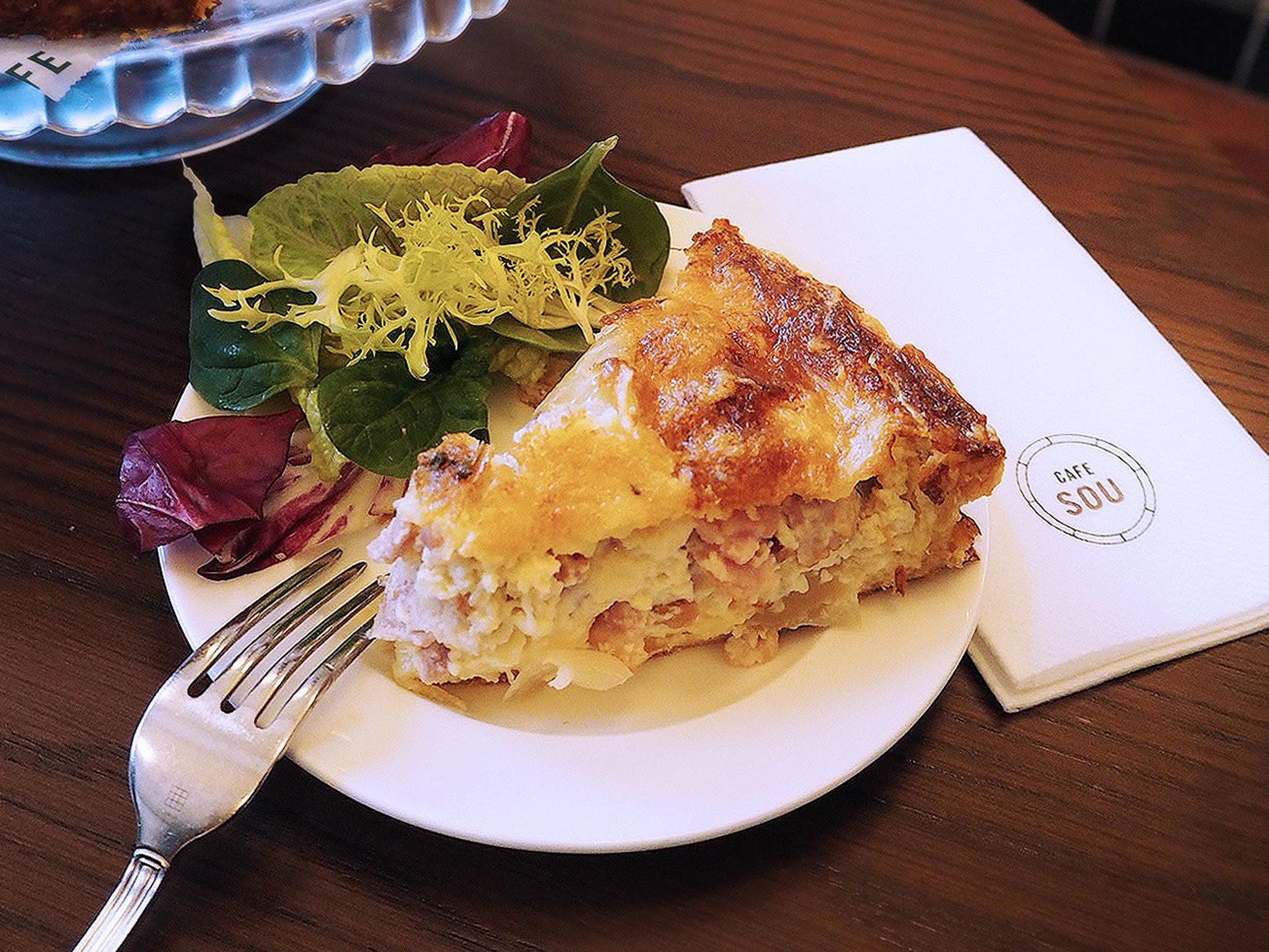 Quiche Lorraine at Café Sou