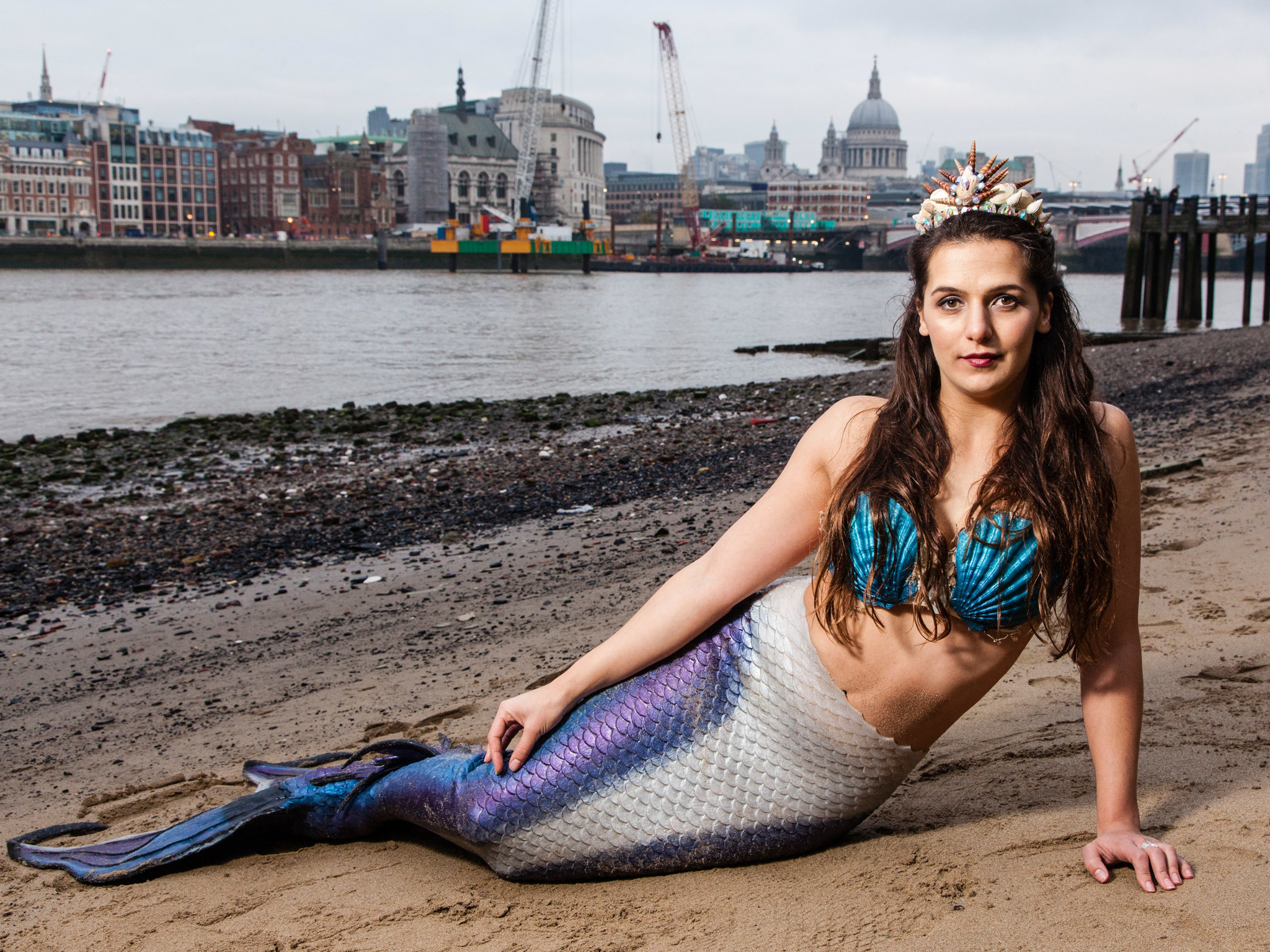 Samantha Smallwood, professional mermaid